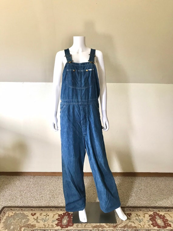 1970's Vintage Lee Denim Overalls 34 x 32