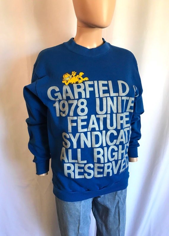 3d9026f0f1352 1978 Garfield United Feature Syndicate Sweatshirt Adult sz M