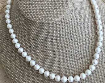 Round Cultured Freshwater Pearls Single Strand-Choose Length