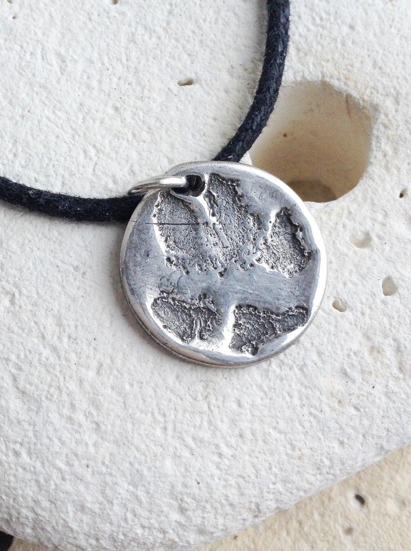 Dog cat paw necklace - Custom paw print necklace - pet memorial jewelry, personalised paw print pendant, animal paw print jewellery