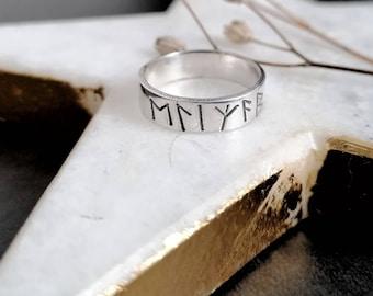 Viking Rune Personalised Word or Name Ring