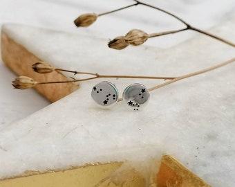 Personalised Zodiac Constellation Stud Earrings