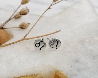 Personalised Star Sign Symbol Stud Earrings