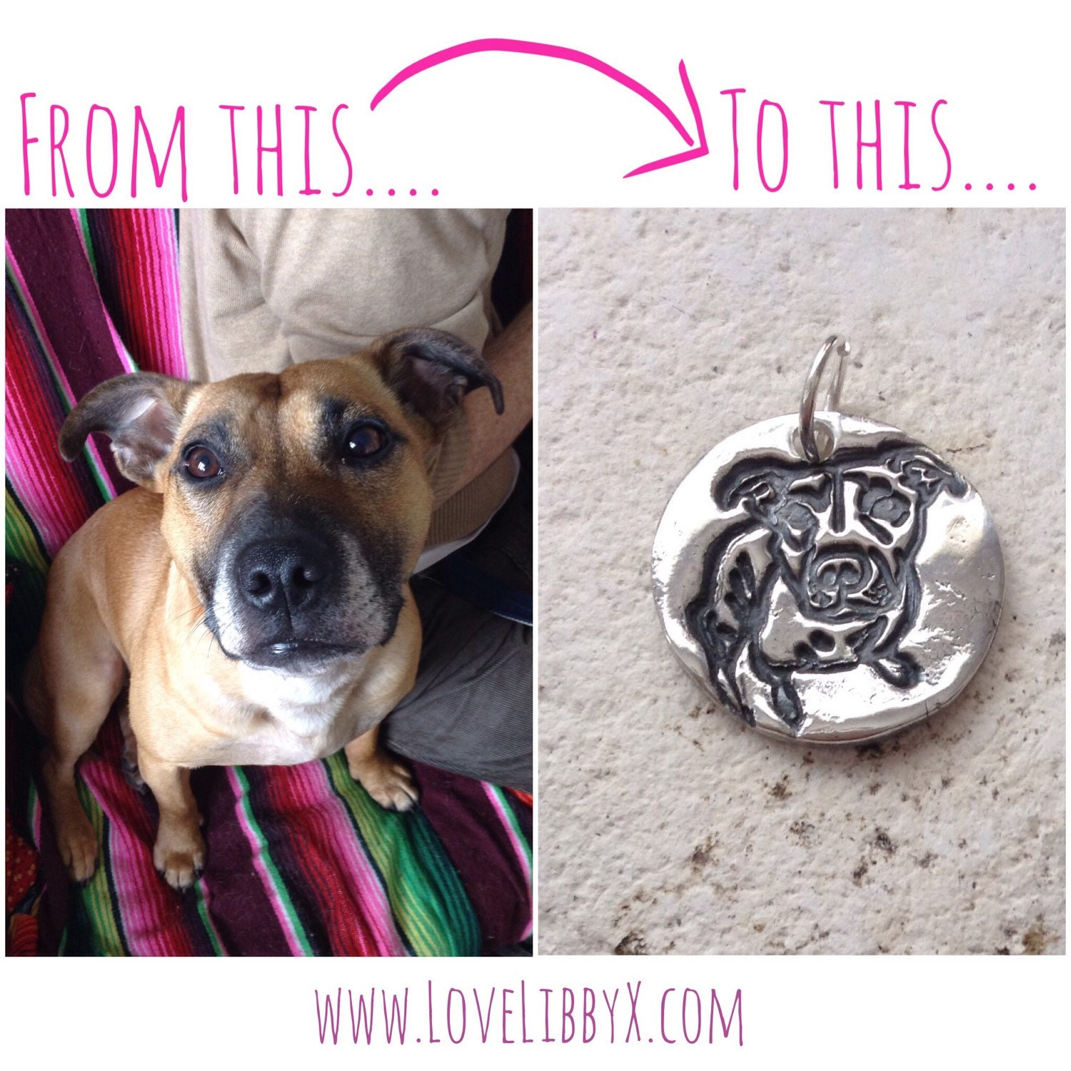 Dog cat necklace - Custom portrait photo print necklace - solid silver pet memorial jewelry, personalised pet pendant, animal jewellery