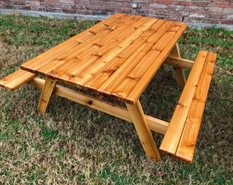 XL HandCrafted Kids Cedar Picnic Table