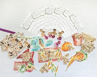 Rabbit Garden Maths Activities (UNIT 1/8) | English Countryside | Beatrix Potter Inspired Printable Math Programme