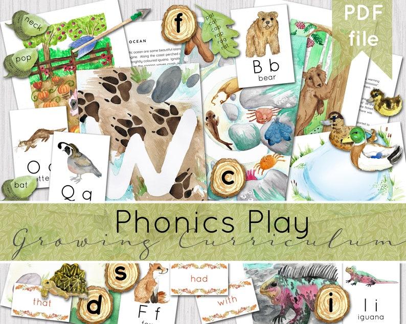 Phonics Play Set alphabet growing curriculum  Phonics image 0