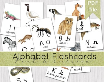 Alphabet Flashcards | Printable Phonetic Flashcards | INSTANT DOWNLOAD