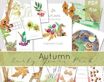 Autumn Early Years Activity Bundle | Phonics & Maths Activities | Preschool INSTANT DOWNLOAD