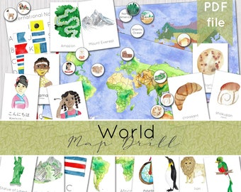 World Mapping Pack | Geography Map Drill | Continents, Biomes & Culture Printable Resources | INSTANT DOWNLOAD
