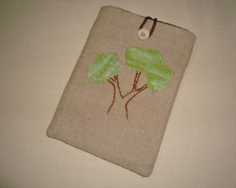 SALE Handmade Kindle Sleeve Hemp Tree design Free shipping