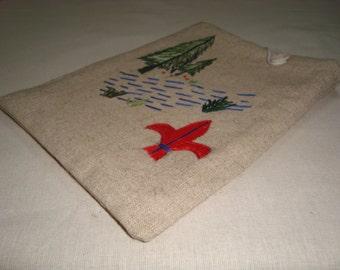 SALE Handmade Kindle Sleeve Hemp Scout design Free shippping