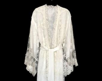 release date durable modeling meet Lace kimono brides lace kimono wedding kimono robe beach | Etsy