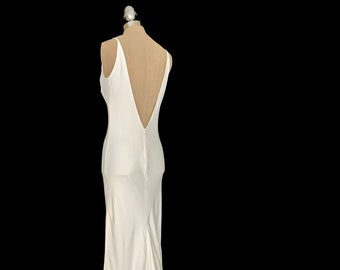 b8e3c27987b7f Silk slip dress, silk dress, brides slip dress, wedding slip dress, bias  cut dress, split front wedding dress, split front slip dress