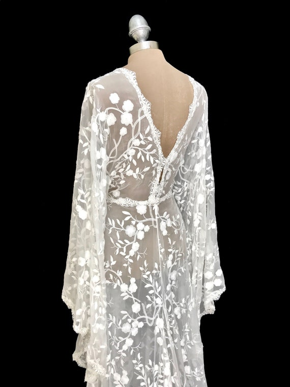 Wedding Dresses Bride Lace Robe Wedding Dress Kimono Silk Etsy
