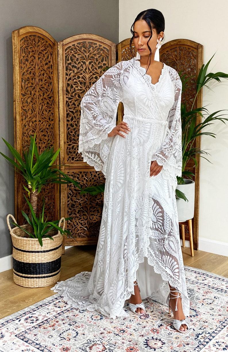 boho wedding dress wedding dress lace wedding dress boho image 0