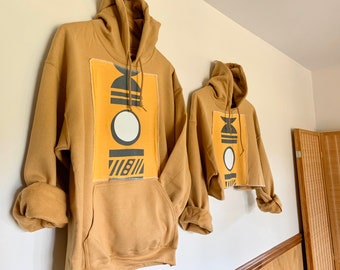 Gold Moon Hoodie /// Cropped or Regular Available