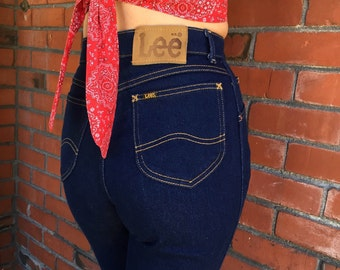 Reserved for Scarlet // SOLD // High Waisted Lee Jeans 25 Waist Skinny Stretch Mom Jeans