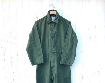 29708dbade82 Military Coveralls Sz S Mechanic Jumpsuit Workwear Vintage Sz Small OG - 107