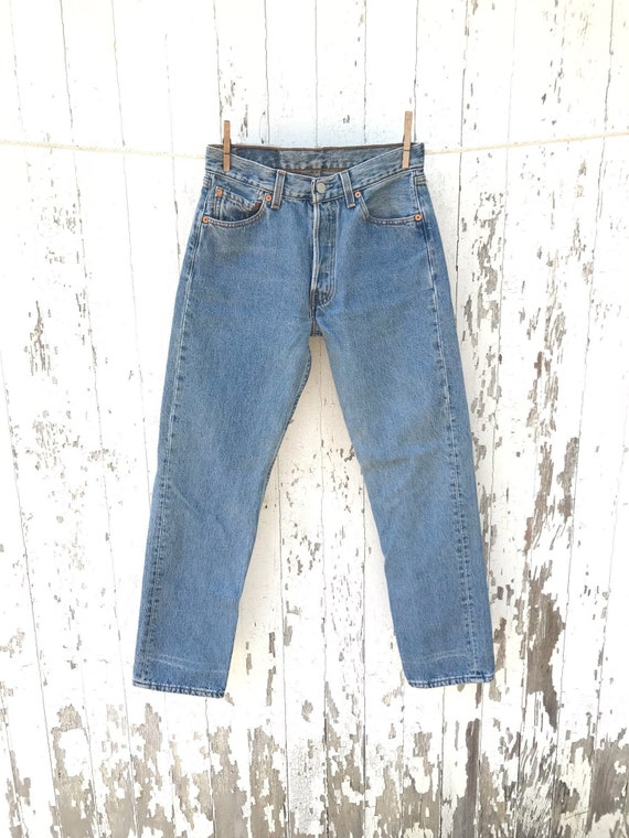 jeans levis 501 jeans 27 taille vintage maman etsy. Black Bedroom Furniture Sets. Home Design Ideas