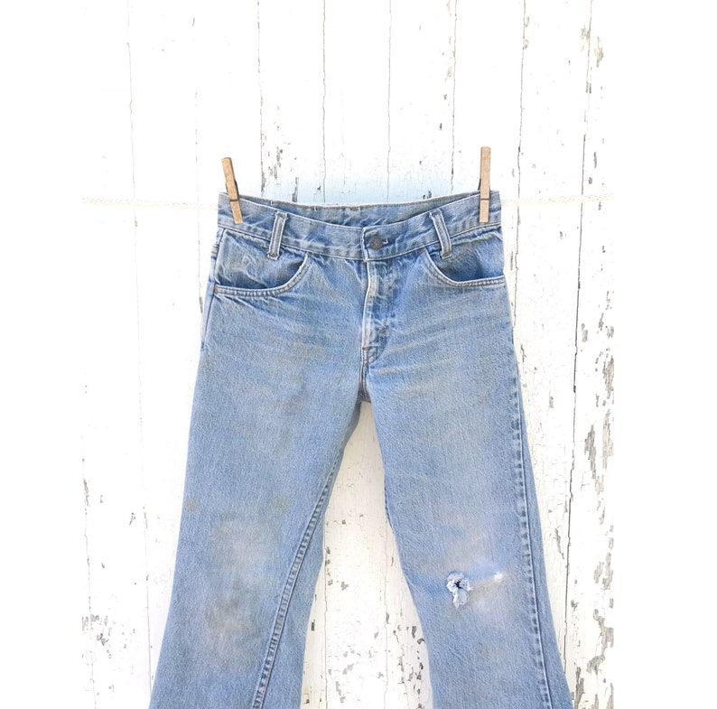 2bf865b79ee LEVIS 784 Jeans 26 Waist Cropped Flare Orange Tab Student Fit