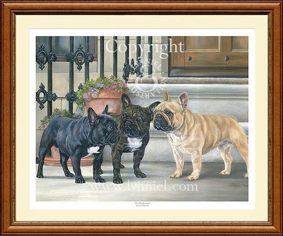 FRENCH BULLDOGS limited edition print /'The Rendezvous/'
