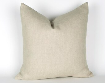 Sand Linen Pillow Cover