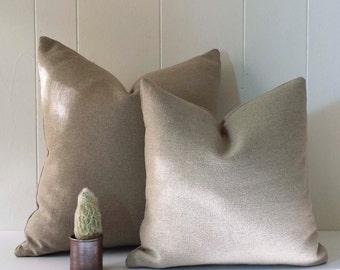 16x16 and 20x20 Belgian Linen Throw Pillow Cover