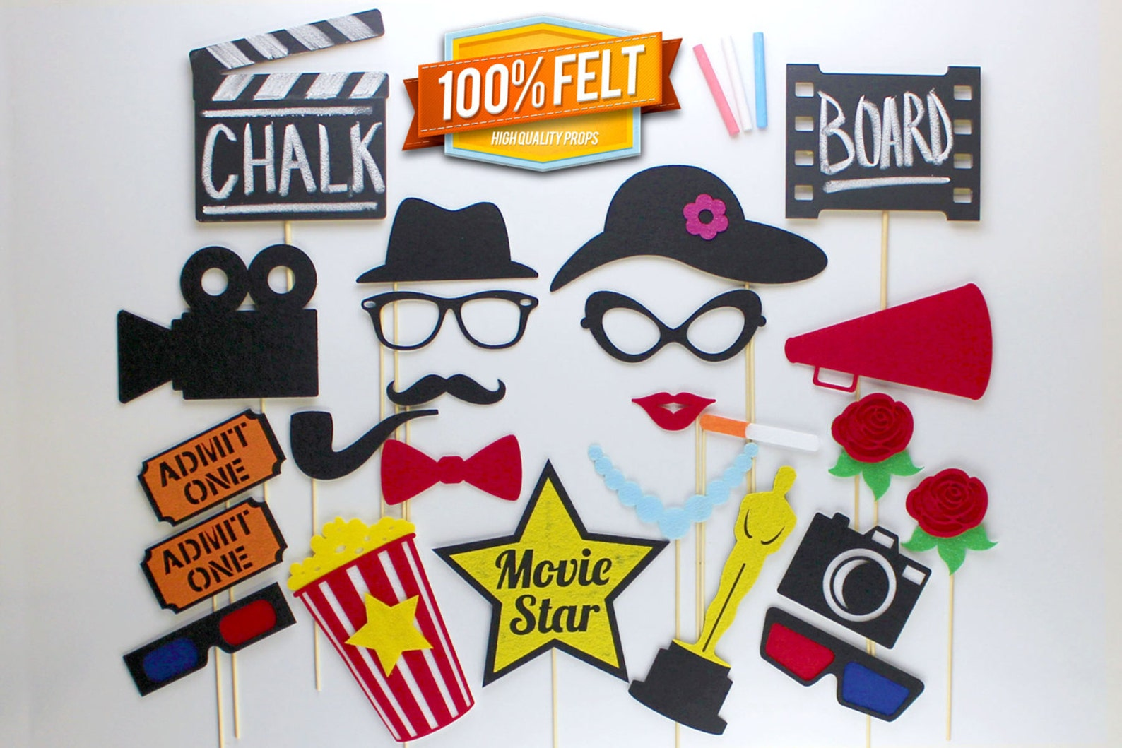 Photo Booth Movie Props