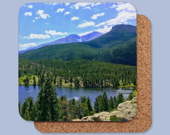 Lily Lake Colorado Cork Back Coaster