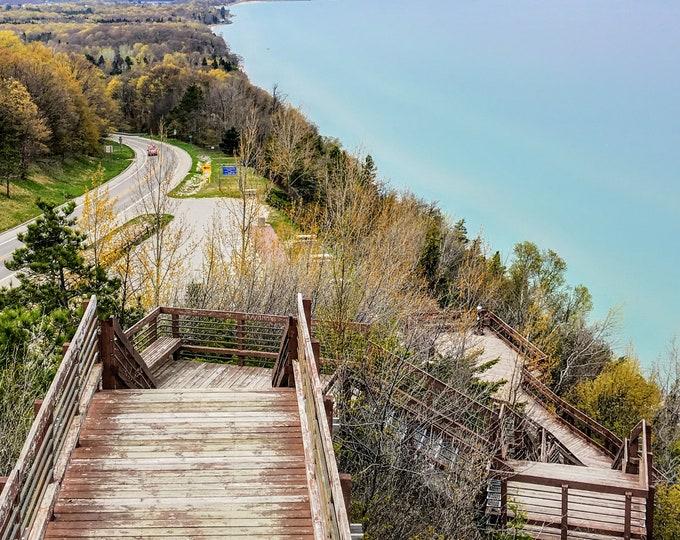 Arcadia Bluffs | Lake Michigan | Scenic Overlook | Digital Download Printable Wall Art
