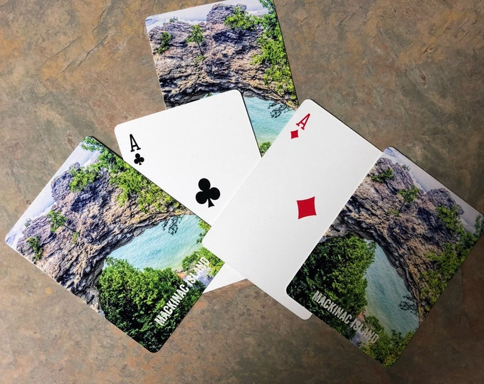Arch Rock Mackinac Island Deck of Playing Cards