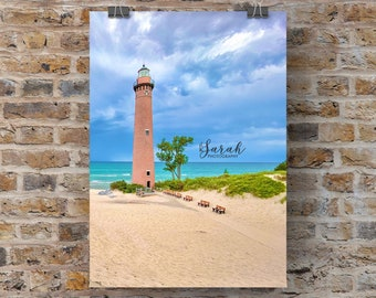 Calm Before the Storm - Little Sable Lighthouse Michigan Photography