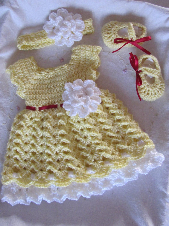 robe de b b de nouveau n bandeau chaussures robe jaune etsy. Black Bedroom Furniture Sets. Home Design Ideas