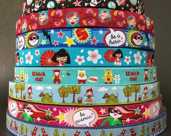 Farbenmix woven jacquard embroidered ribbon trim 1/2 inch wide free domestic shipping