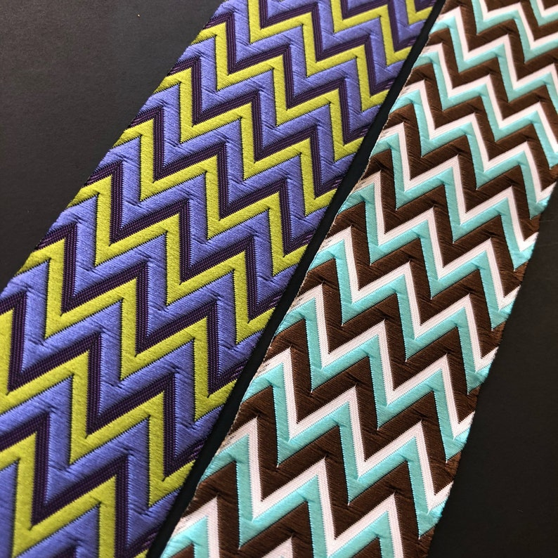 Renaissance HD Chevron Zigzag woven jacquard embroidered image 0