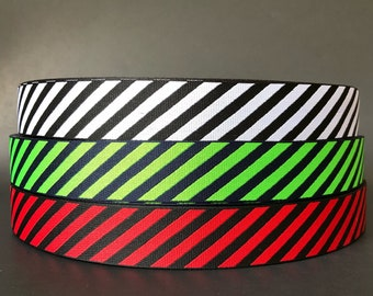 Diagonal Stripes woven jacquard embroidered ribbon trim 3 yards 25mm 1 inch wide free domestic shipping