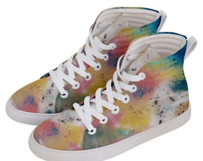 JAZEAZ® Hi-Top Sneakers - Colorful Spring - Shoes