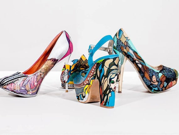Shoes-Hand painted and designed-Heels