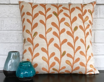 """Orange Galbraith & Paul """"Vines"""" Square Pillow"""
