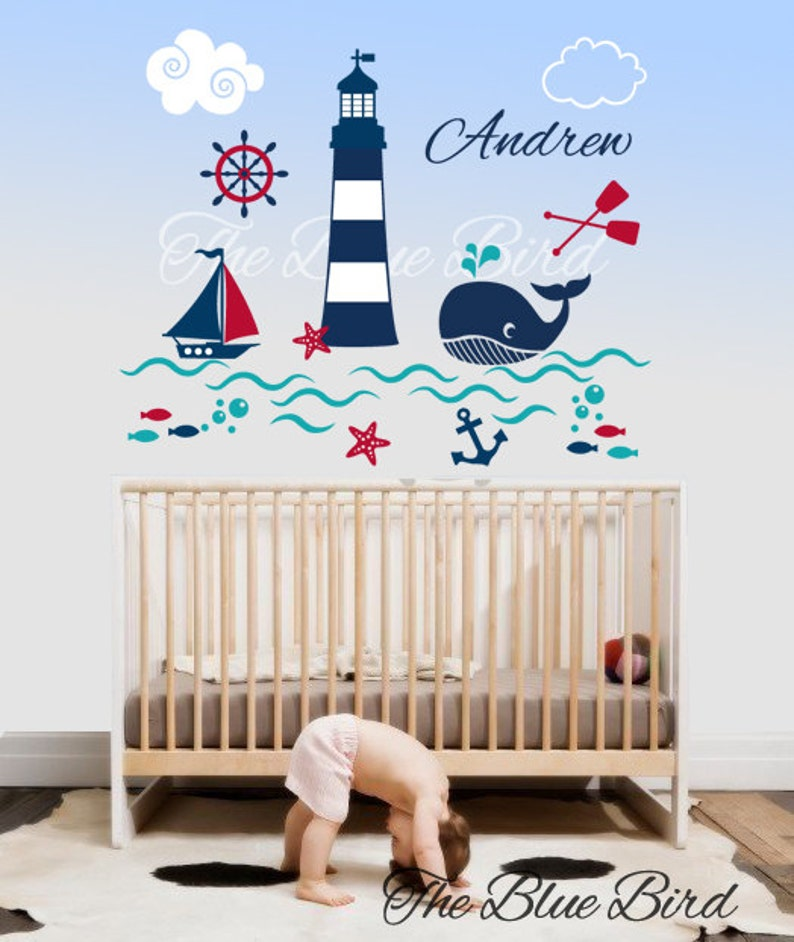 Nursery Wall Decals / Underwater Decal / Under the sea wall image 0