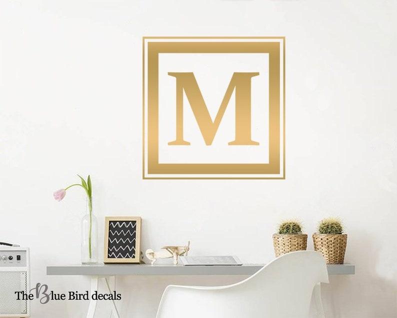 Custom Monogram Wall Decal Monogram Initial Family Monograma Decal Nursery Vinyl Sticker Home Decor Initial Wall Decal