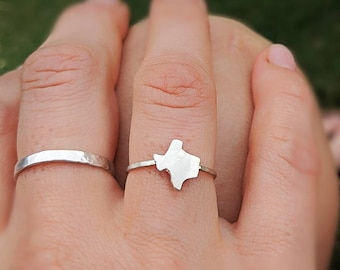unique Texas ring Texas shape turquoi Turquoise texas ring Texas state ring Texas turquoise jewelry turquoise Texas ring in silver