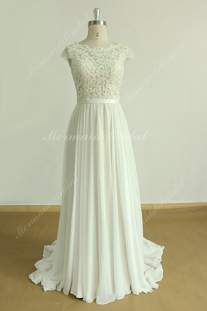 romantische jurk van chiffon