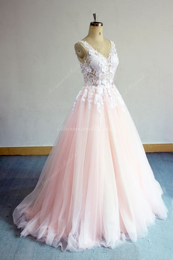 Light Pink Wedding Gowns