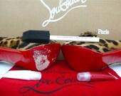 Christian Louboutin DIY red bottom soles custom blended paint for shoes