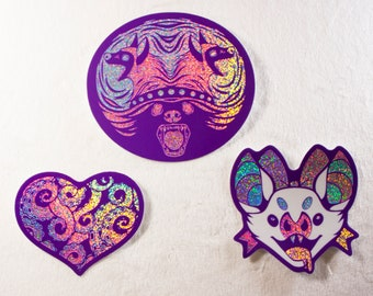 Creepy but Cute Glitter Sparkle Stickers