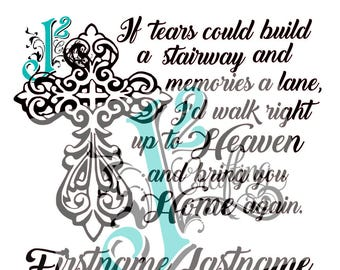 If tears could build a stairway - SVG / EPS / PNG - cut file