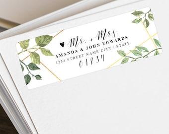 Personalized Return Address Labels - Custom Shipping Labels - Return Address Stickers - Wedding Address Labels - Mr. & Mrs. Address Labels