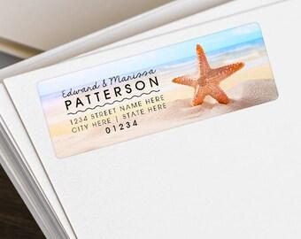 Personalized Return Address Labels - Custom Shipping Labels - Return Address Stickers - Wedding Address Labels - Beach Address Labels